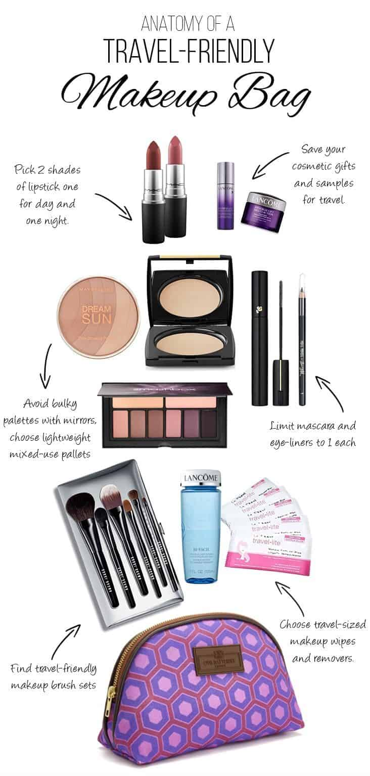 Do you know the weight of your makeup bag? Carry-on travel has taught me one thing, it weighs a lot. In this post we look at some of the things you can do to lighten up your makeup and create a travel-friendly cosmetics bag. | Travel Tips | Beauty | Carry-on Only | Packing Tips | Weight of Makeup |
