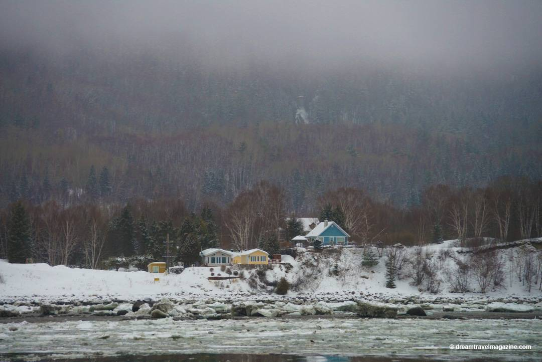 Ferry to the island Isle Aux Coudres