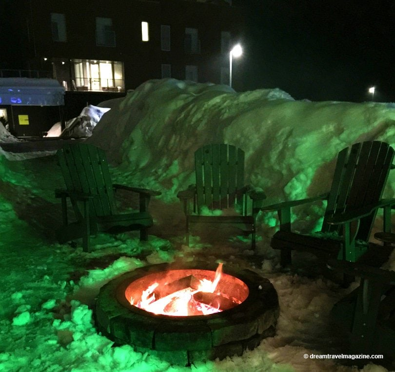 Outdoor Firepit at hotel le germain charlevoix
