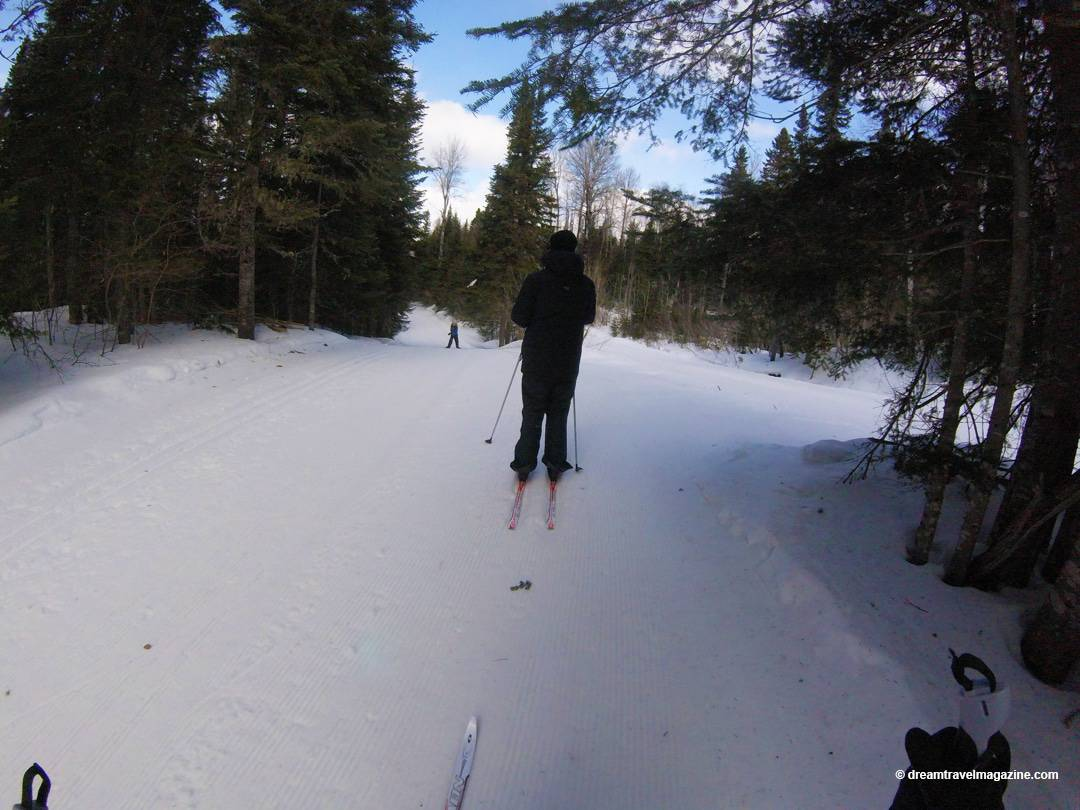 Cross Country skiing in Mont Grand Fonds Charlevoix Quebec