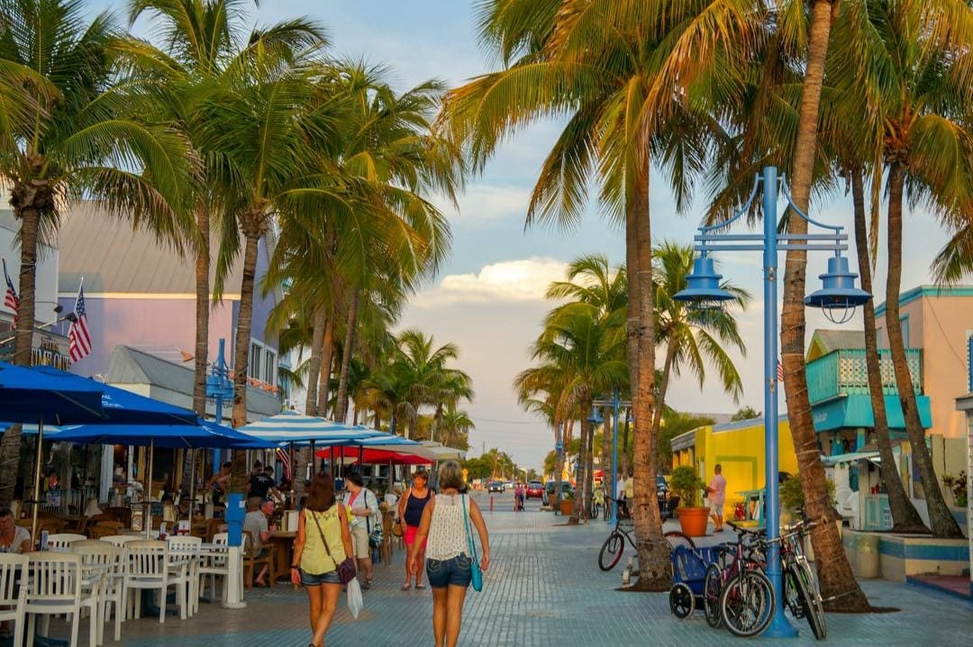 Time Square shopping area in Fort Myers Beach