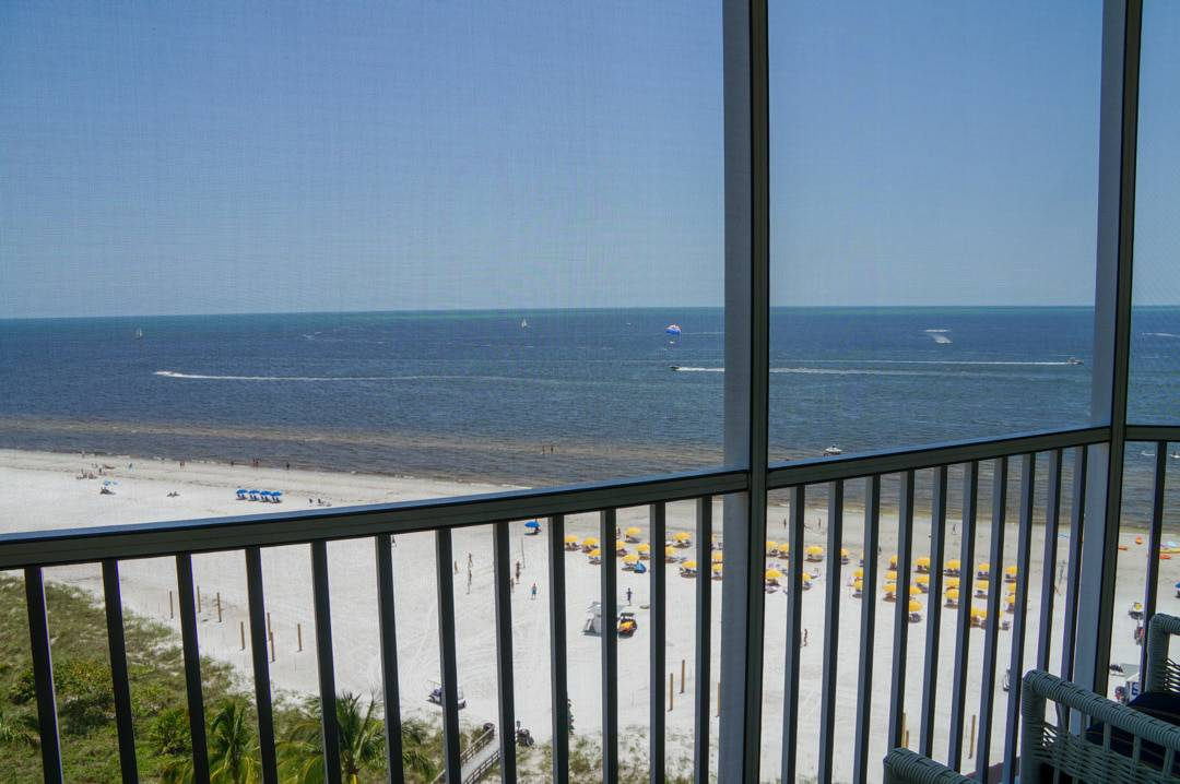 balcony with oceanview Pink Shell Beach Resort Fort Myers Beach Florida
