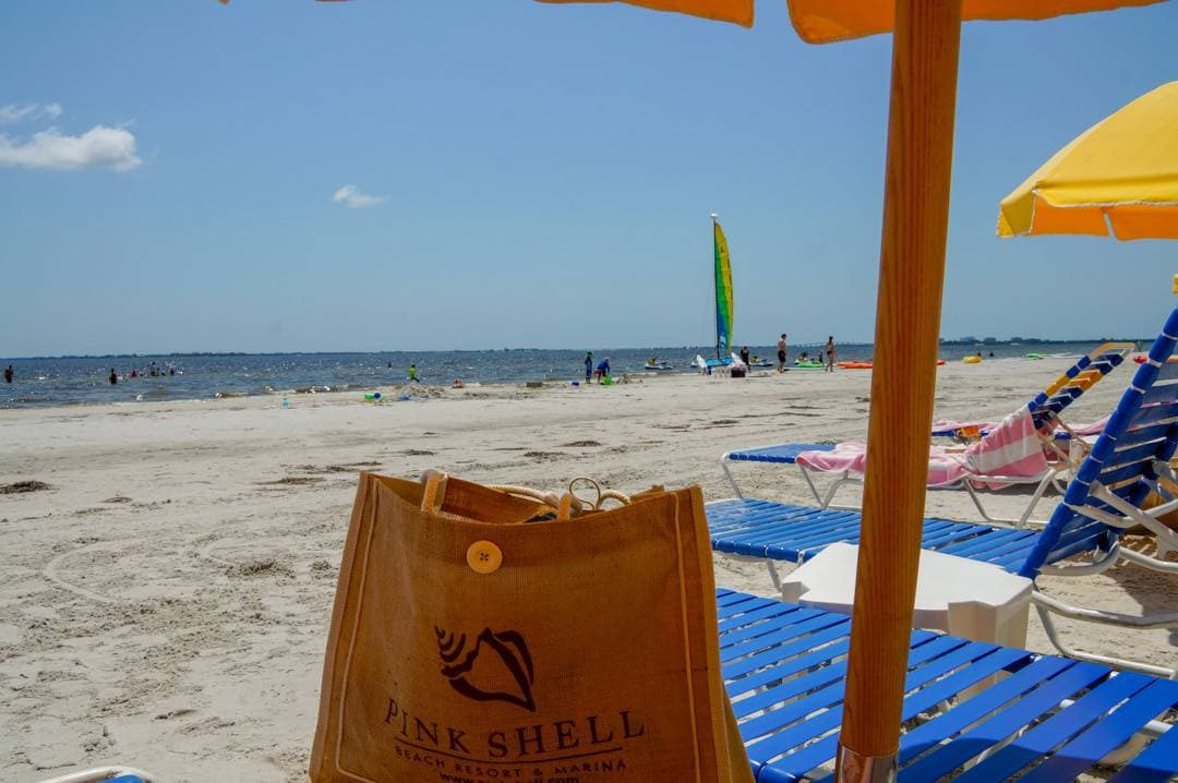 the beach at the Pink Shell Beach Resort Fort Myers Beach Florida