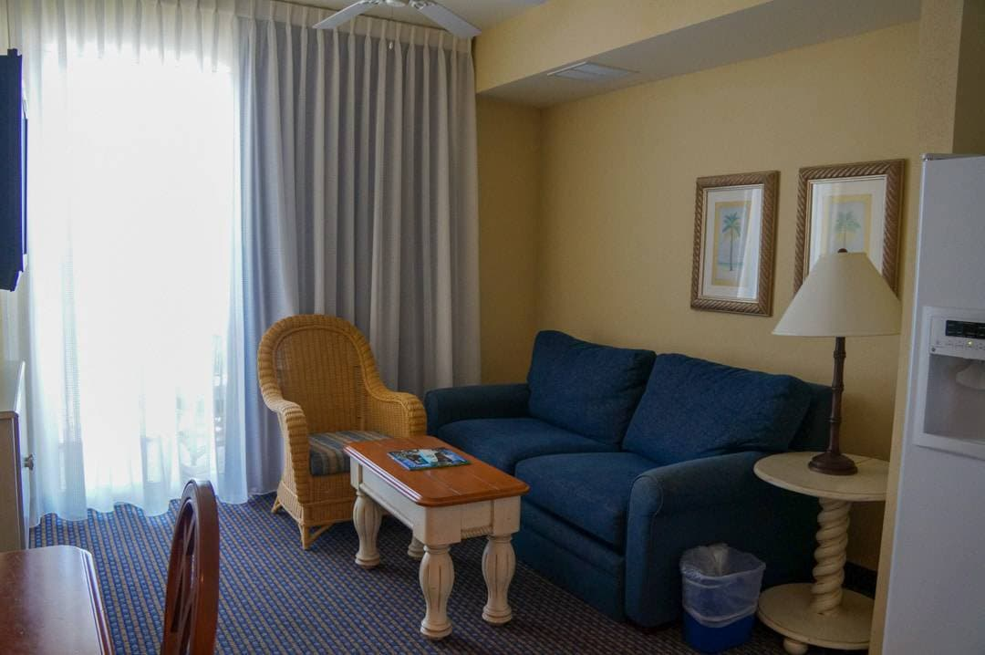 living space in suite Pink Shell Beach Resort Fort Myers Beach Florida