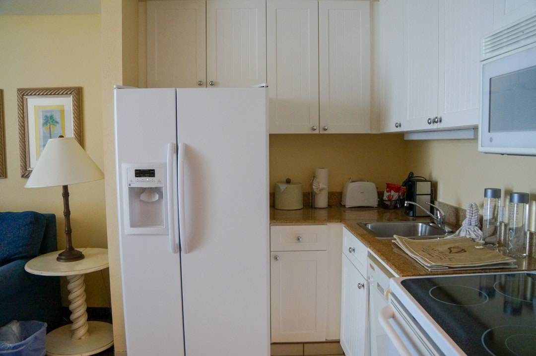 Kitchen in suite Pink Shell Beach Resort Fort Myers Beach Florida