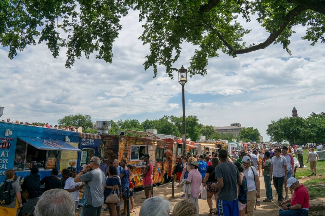 food trucks Sightseeing in Washington DC with limited time