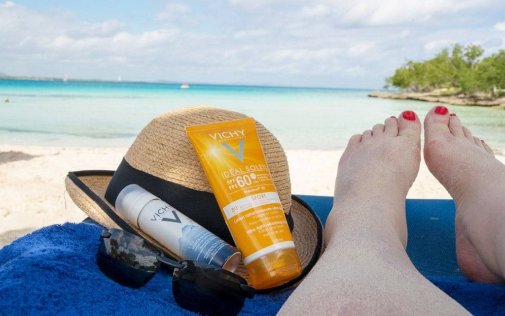 vichy sports sunscreen and after sun oil