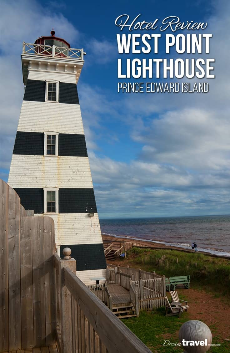 Heading to Prince Edward Island? We stopped at the West Point Lighthouse Inn during our 2-day road trip from Charlottetown to West Point. With a great view of the beach from each room, long walks collecting sea glass, the friendly staff and a working lighthouse you can visit and climb to the top. PEI   Prince Edward Island   Canada   hotel   lighthouse   hotel review  