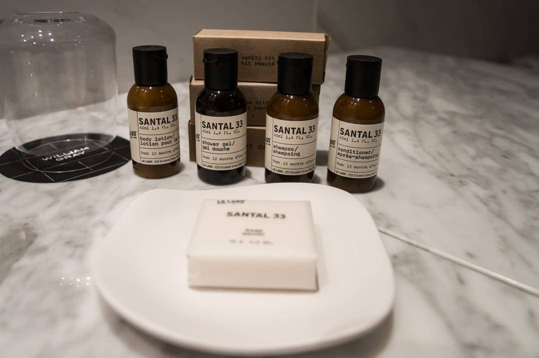 Toiletries Hotel William Grey Montreal