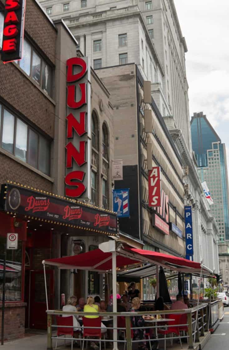 Often at the top of Montreal's Best Smoked Meat Restaurant lists, Dunns Famous Smoked Meat Restaurant is a bit touristy, but you'll get a great sandwich. | Restaurant | Smoked Meat | Deli | Montreal | Quebec |