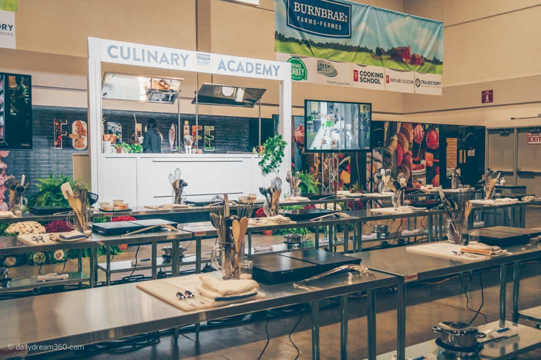 Culinary Academy Food and Life stage area Royal Agricultural Winter Fair Toronto