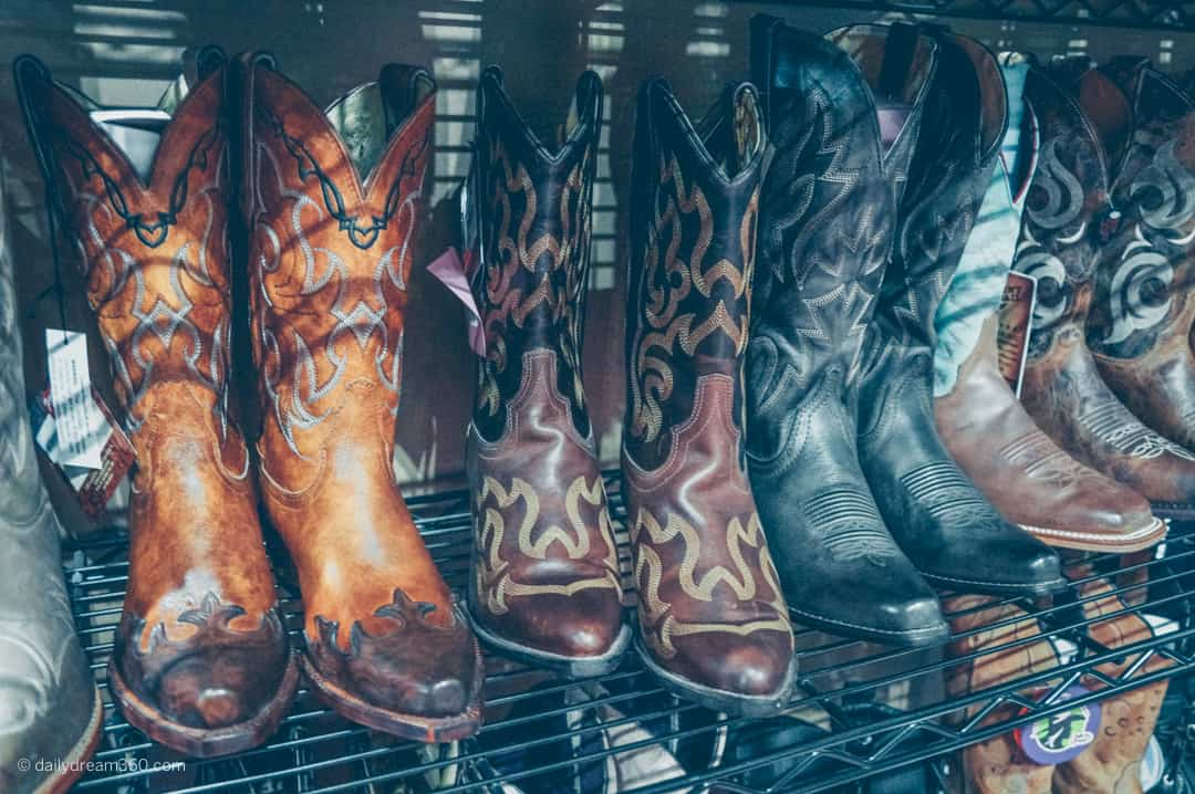 shop for western wear cowboy boots on display at The Royal Agricultural Winter Fair in Toronto