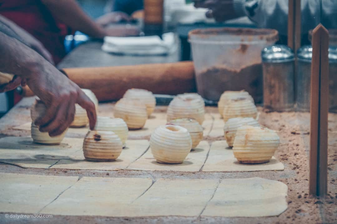 apple dumplings being made at The Royal Agricultural Winter Fair in Toronto