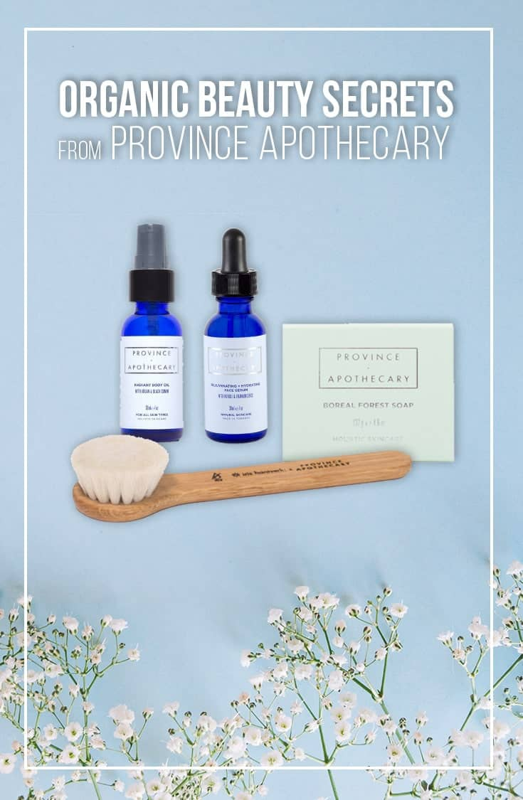 Province Apothecary Organic Skincare and Beauty Products are made from natural ingredients with no chemicals. Formulated for sensitive skin, these organic beauty products deliver results. A luxury organic beauty line with fragrant products and body oils. Check out our review in this post. | Organic Beauty Products | Vegan | Organic Skincare | Body Oil | Beauty | Skincare |