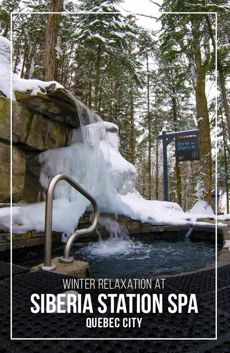 The Siberia Station Spa located just outside Quebec City is an indoor/outdoor Scandinavian spa featuring hot and cold pools and many relaxing sauna and steam rooms. | Spa | Quebec City | Scandinavian Spa | Winter Spa | Quebec |