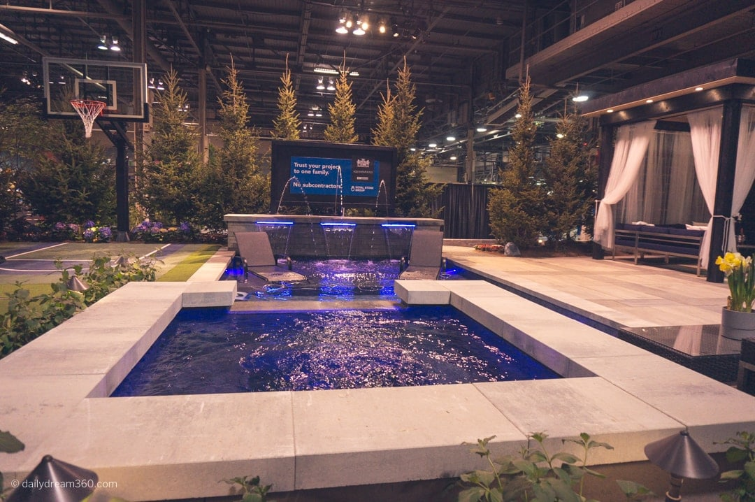 One of many featured gardens at Canada Blooms