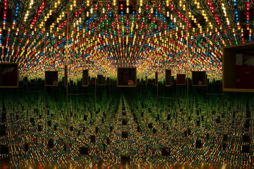 Until May 2018 Toronto's AGO is showing Yayoi Kusama's Infinity Mirrors exhibit. Combine your exhibit with AGO's First Thursdays and enjoy an evening of good food, drinks and art.   Toronto   Art Gallery   Ontario   AGO   Yahoo Kusama   Infinity Mirrors  