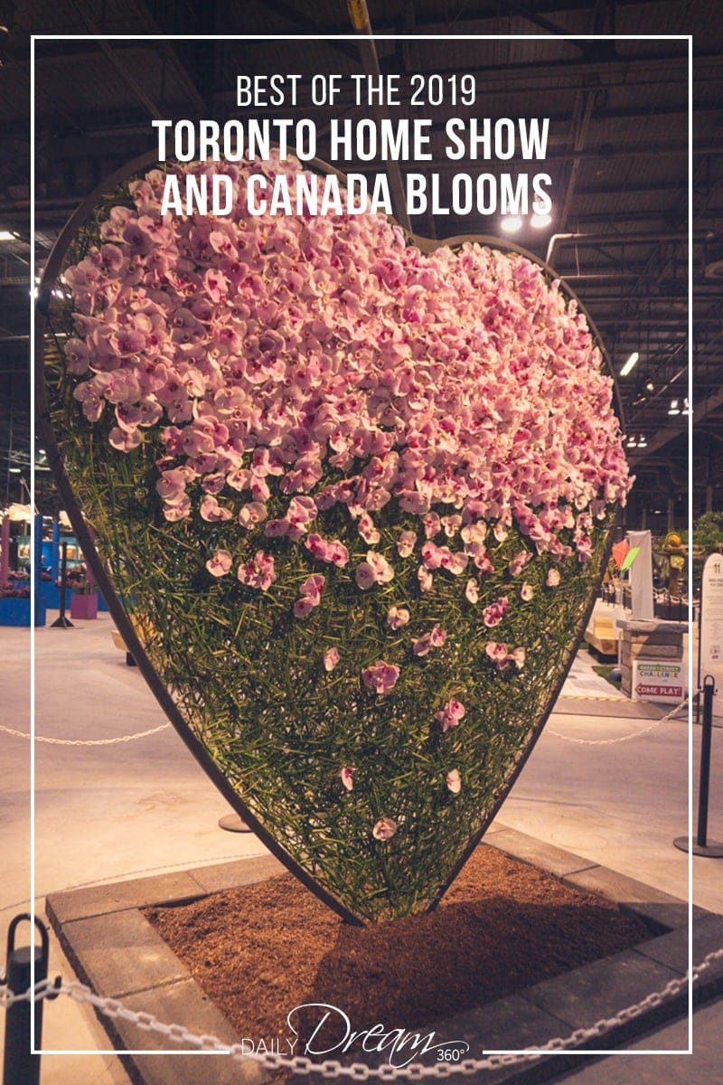 Heart display at Canada Blooms Toronto