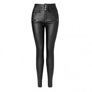 Black Faux Leather High Waisted Skinny Leggings