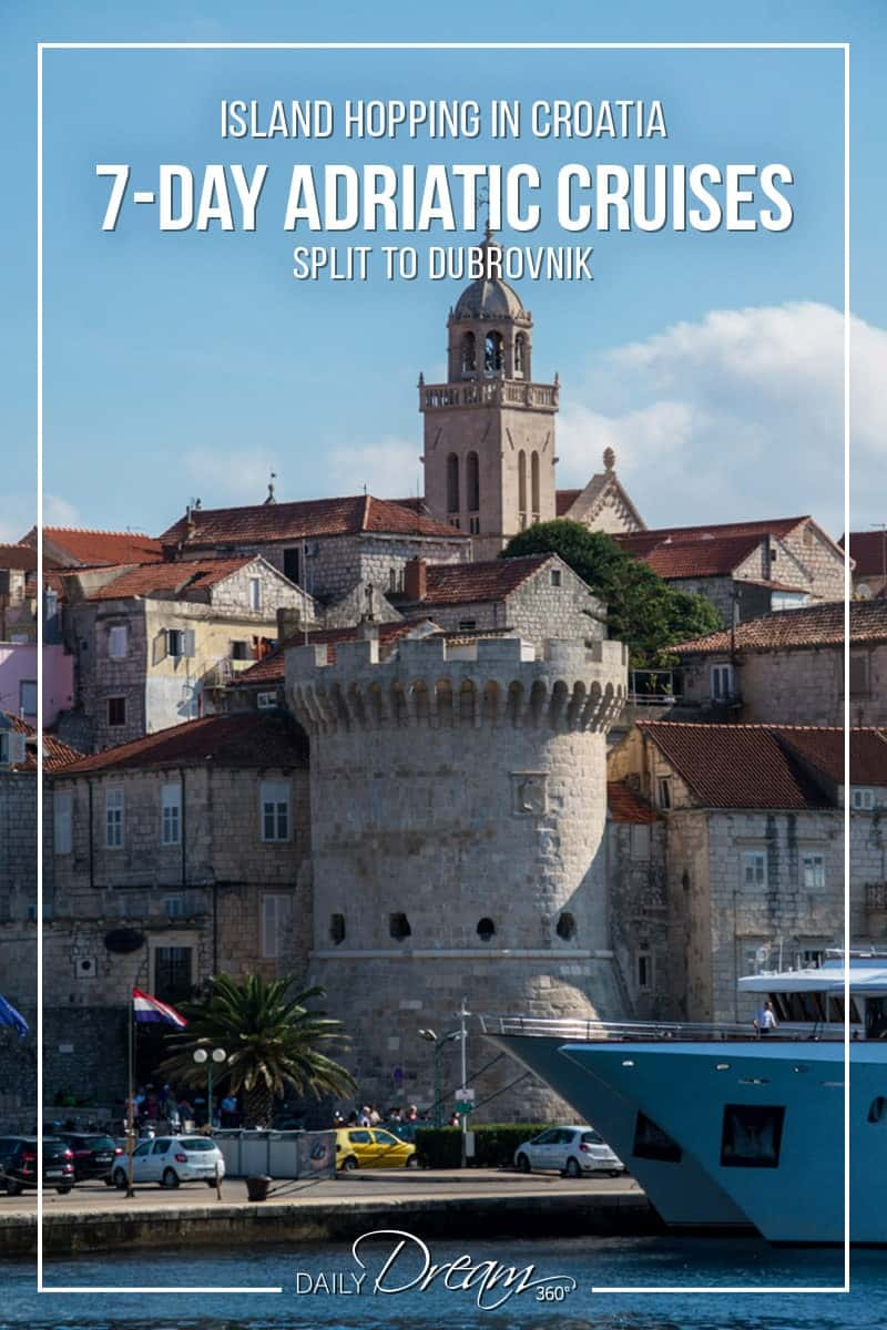 If island hopping in Croatia is a dream of yours then we have some details on a 7-day Adriatic Cruise along the Dalmatian coast of Croatia. We share some tips on how to choose the best Adriatic cruise and what you should be looking at when picking your ship.   #Croatia #DalmatianCoast #CroatiaCruise #cruise #travel #Europe  