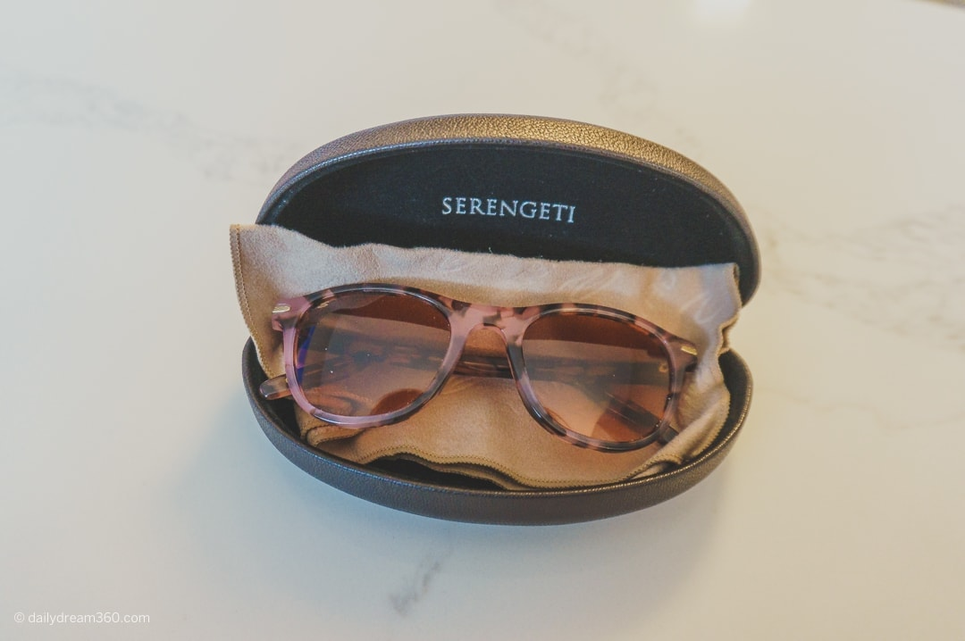 Serengeti Sunglasses Andrea model in case