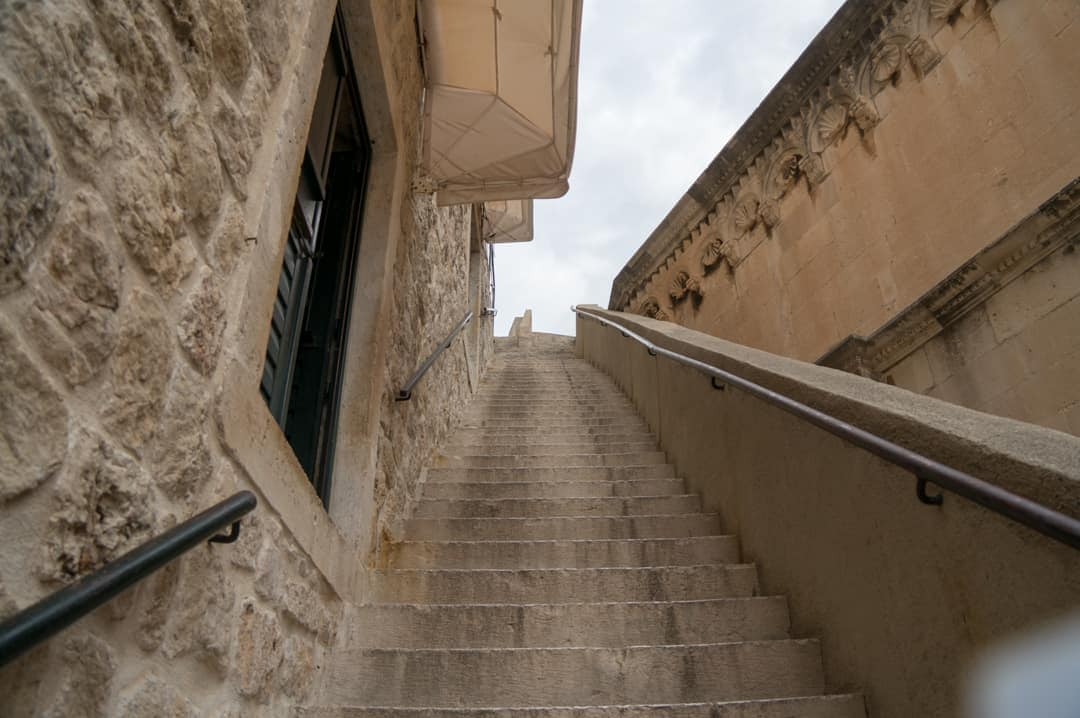 First set of stairs Dubrovnik City Walls Walk