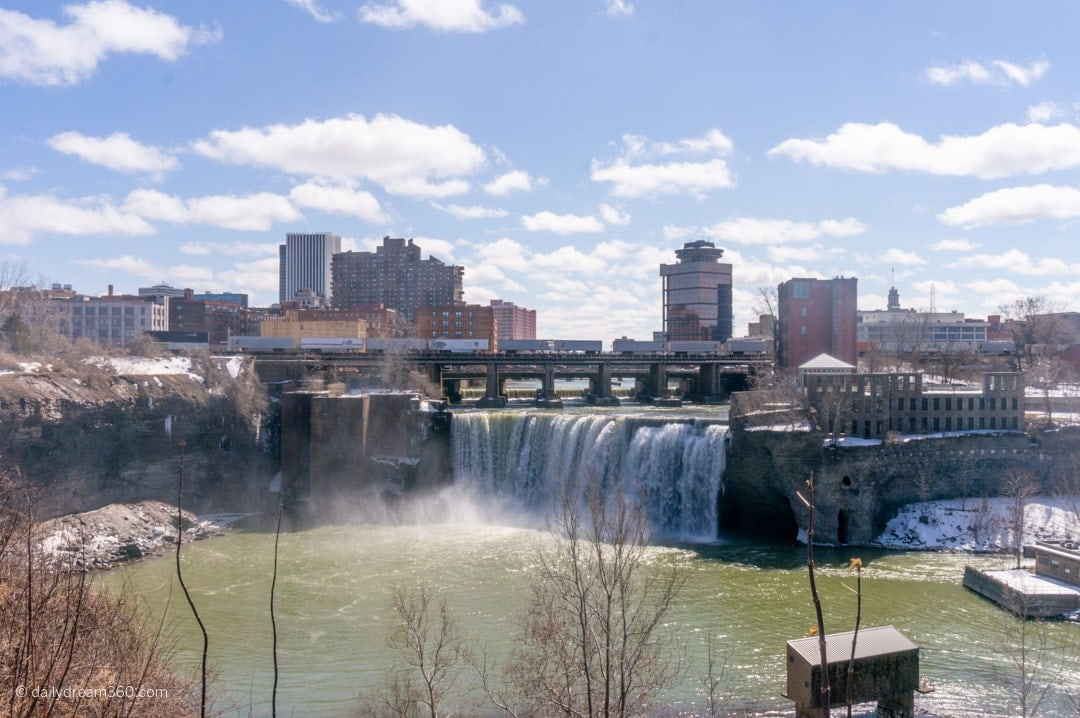View of High Falls Rochester New York