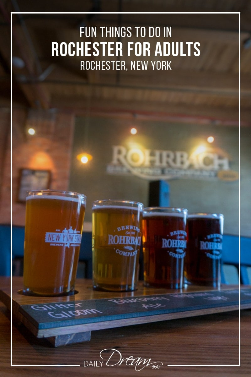 Beer tasting on display at Rohrbach Brewing Company Rochester