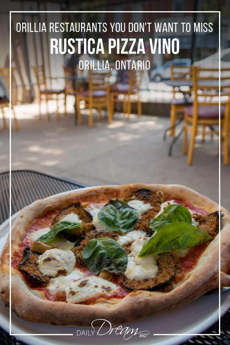On the hunt for the best Orillia restaurants? We recommend the patio of Rustica Pizza Vino Restaurant. Located in downtown Orillia and featuring a menu of authentic Italian cuisine prepared in their wood-fired oven this restaurant won't disappoint. | #orillia #ontario #bestrestaurants #orilliarestaurants #restaurant #Italian #pizza |