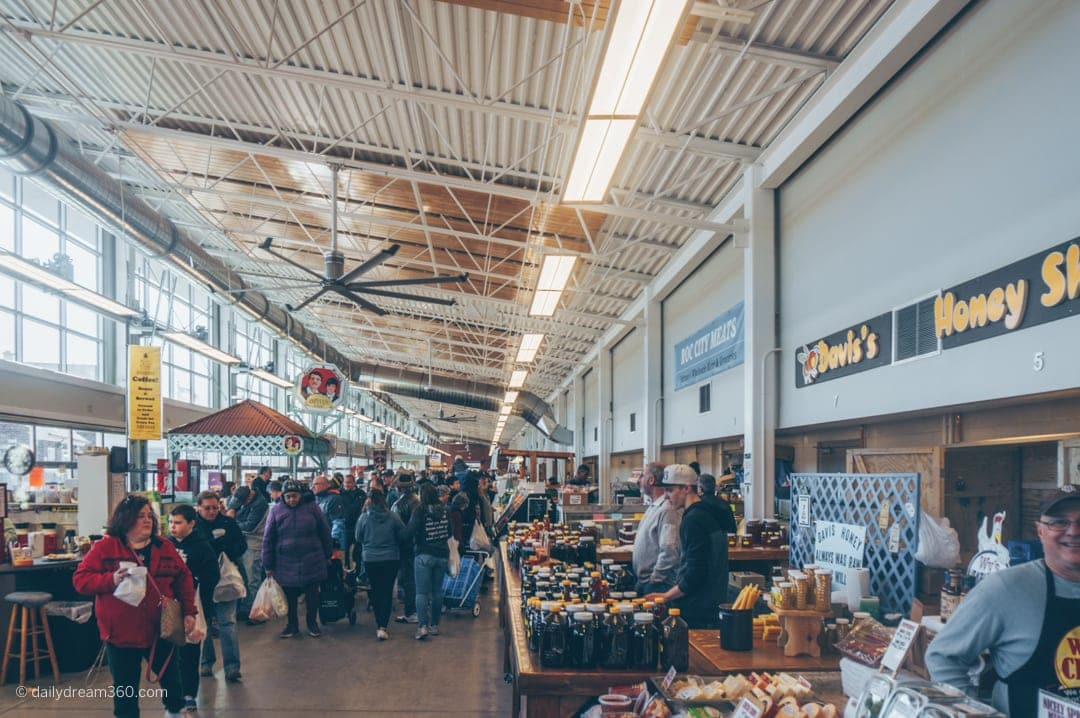 Indoor building at Public Market Rochester New York for adults
