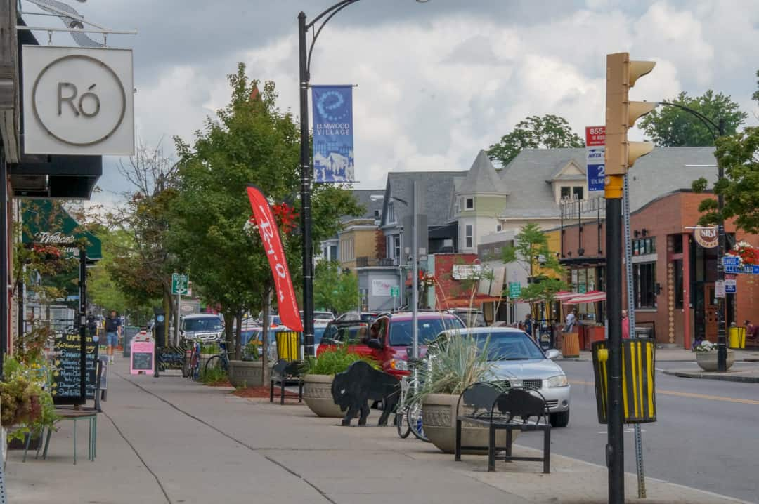 Walkable shopping in Elmwood Village Buffalo New York