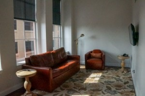 Living room space Lofts on Pearl Buffalo New York