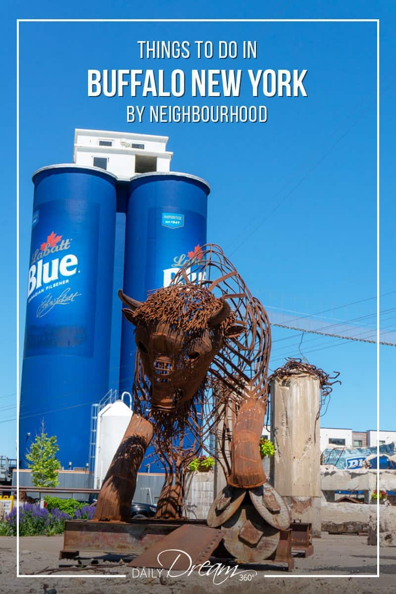 In this post, we share a Guide to Buffalo New York. We have a complete list of things to do in Buffalo NY today by neighbourhood including where to stay, where to eat and must see Buffalo attractions. | #Buffalo #NewYork #travel #guide #elmwood village #allentown |
