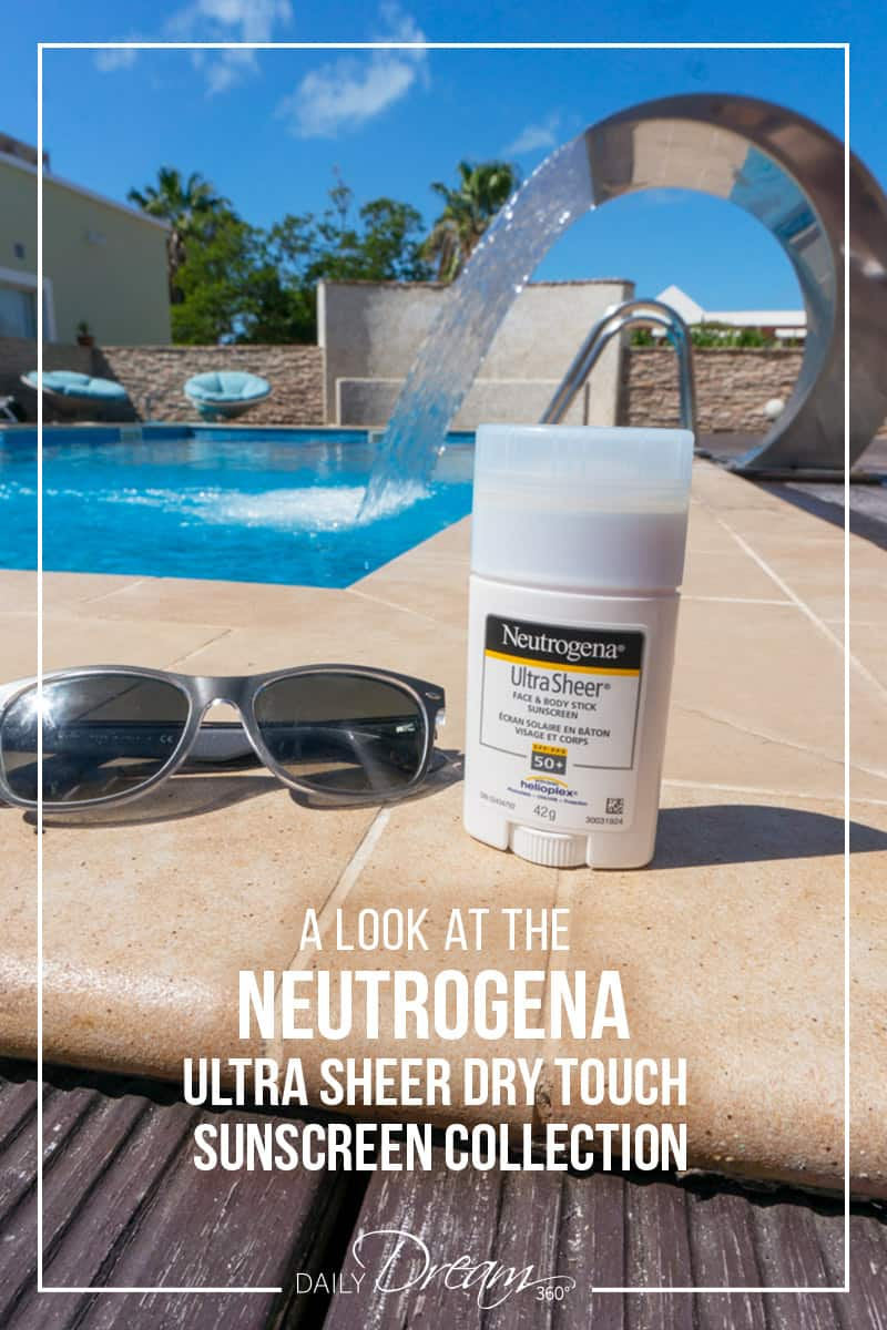 Neutrogena Ultra Sheer Dry-Touch Face and Body Stick Sunscreen is the most convenient sunscreen product we have ever tried. Like a deodorant, the sunscreen is great for travel and more. See the results of our tests in this post. | #sunscreen #non-sticky #neutrogena #ultrasheer #drytouch |
