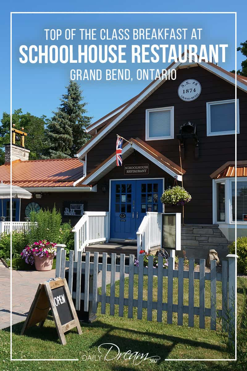 When a local made a restaurant recommendation with a gushing review, we investigated. The Schoolhouse Restaurant in Grand Bend, Ontario, features a menu of fresh homemade eats. Best for breakfast or brunch this restaurant is popular with the locals and nearby theatregoers.  | #Ontario #GrandBend #beachvacation #restaurant #travel #OntSouthwest |