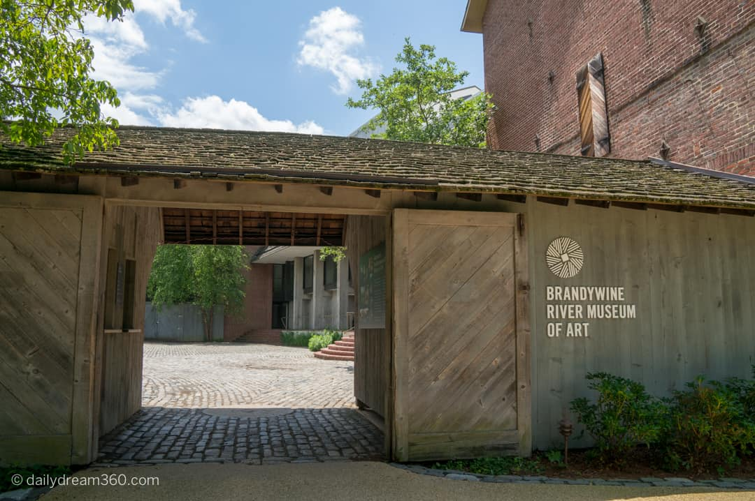 Entrance at Brandywine River Museum of Art Countryside of Philadelphia