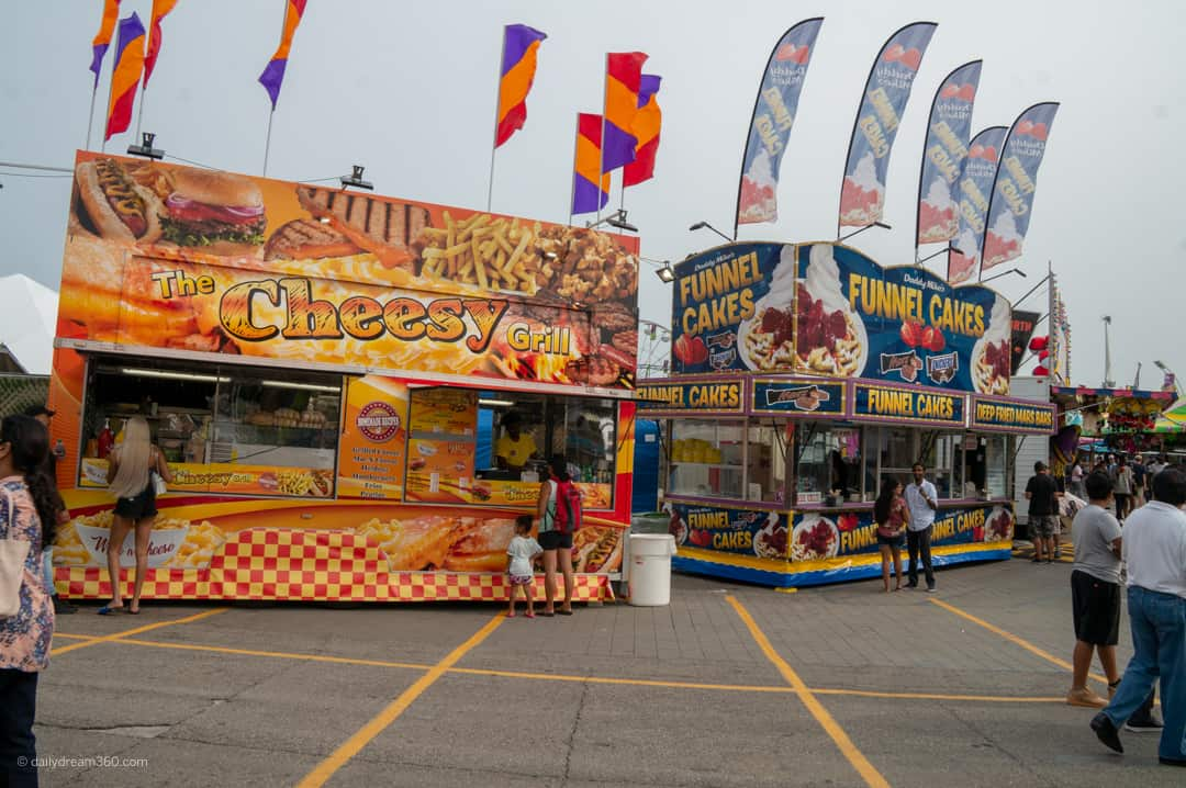food vendors at CNE