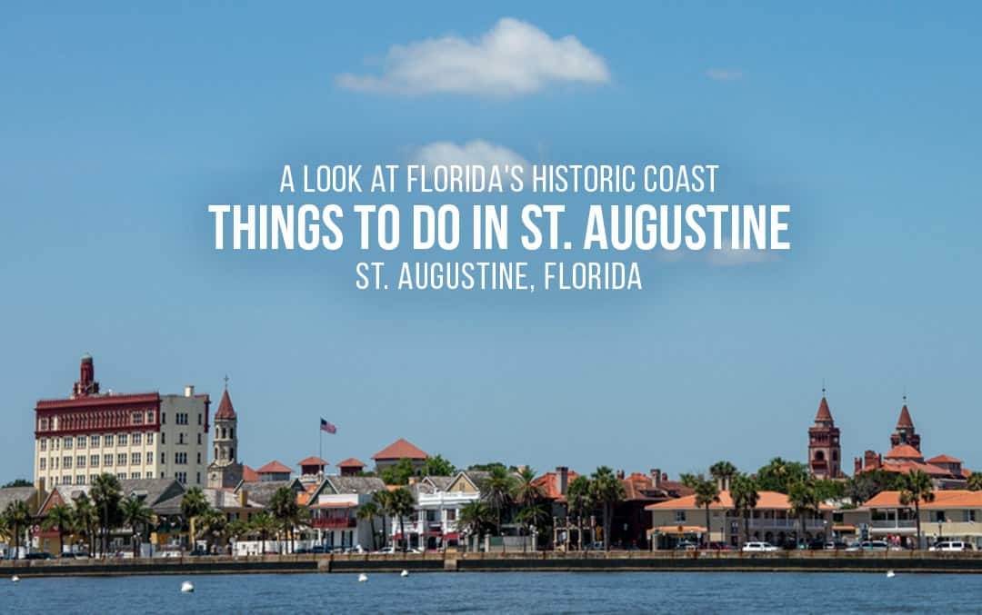 St. Augustine Florida coastline view of historic village from water