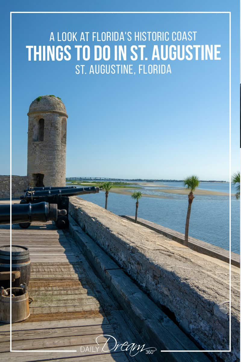 In this post, we share a guide of things to do in St. Augustine Florida, with an in-depth look at Florida's Historic Coast which is filled with historic attractions, great shopping and dining options. | #Florida #staugustine #girlsgetaway #floridashistoriccoast #historicvillage #travel |