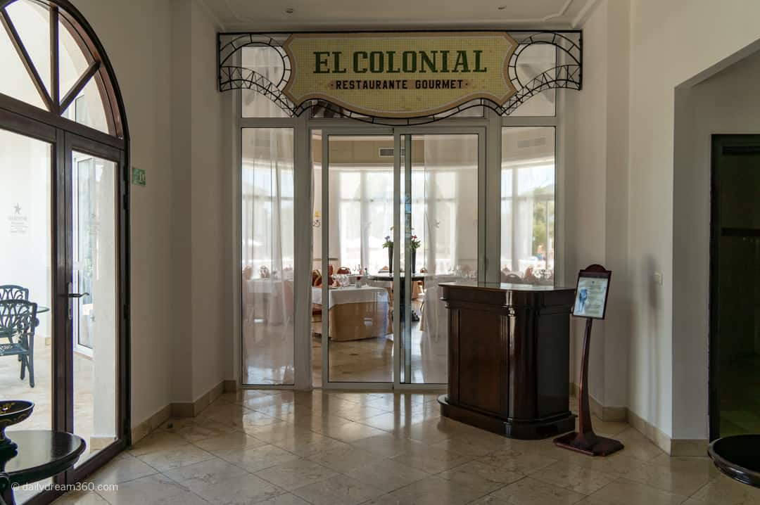 Restaurant entrance at iberostar Grand village area