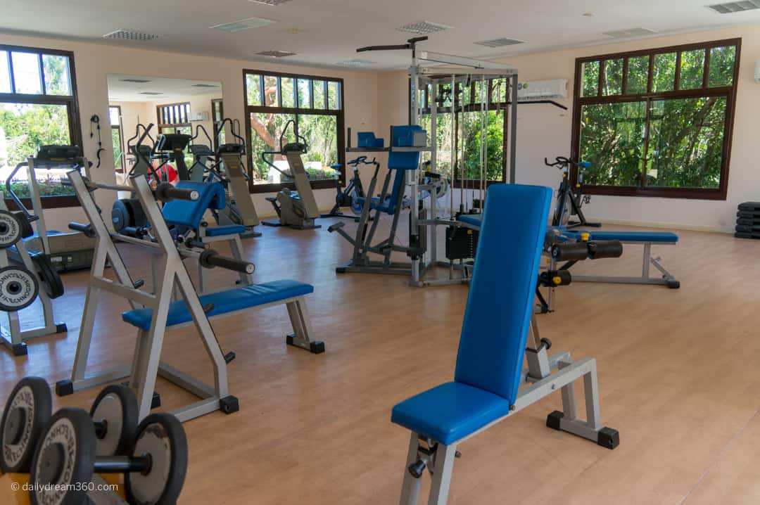 fitness room at the spa building