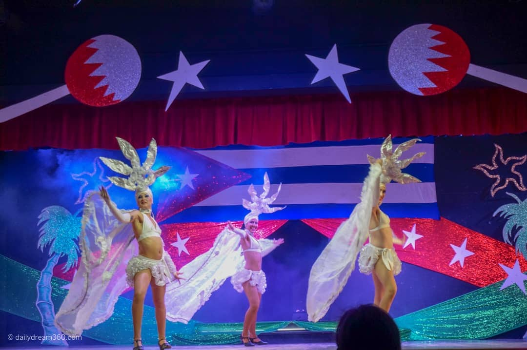 Dancers on stage at showtime in Iberostar Playa Pilar Cayo Coco Resort