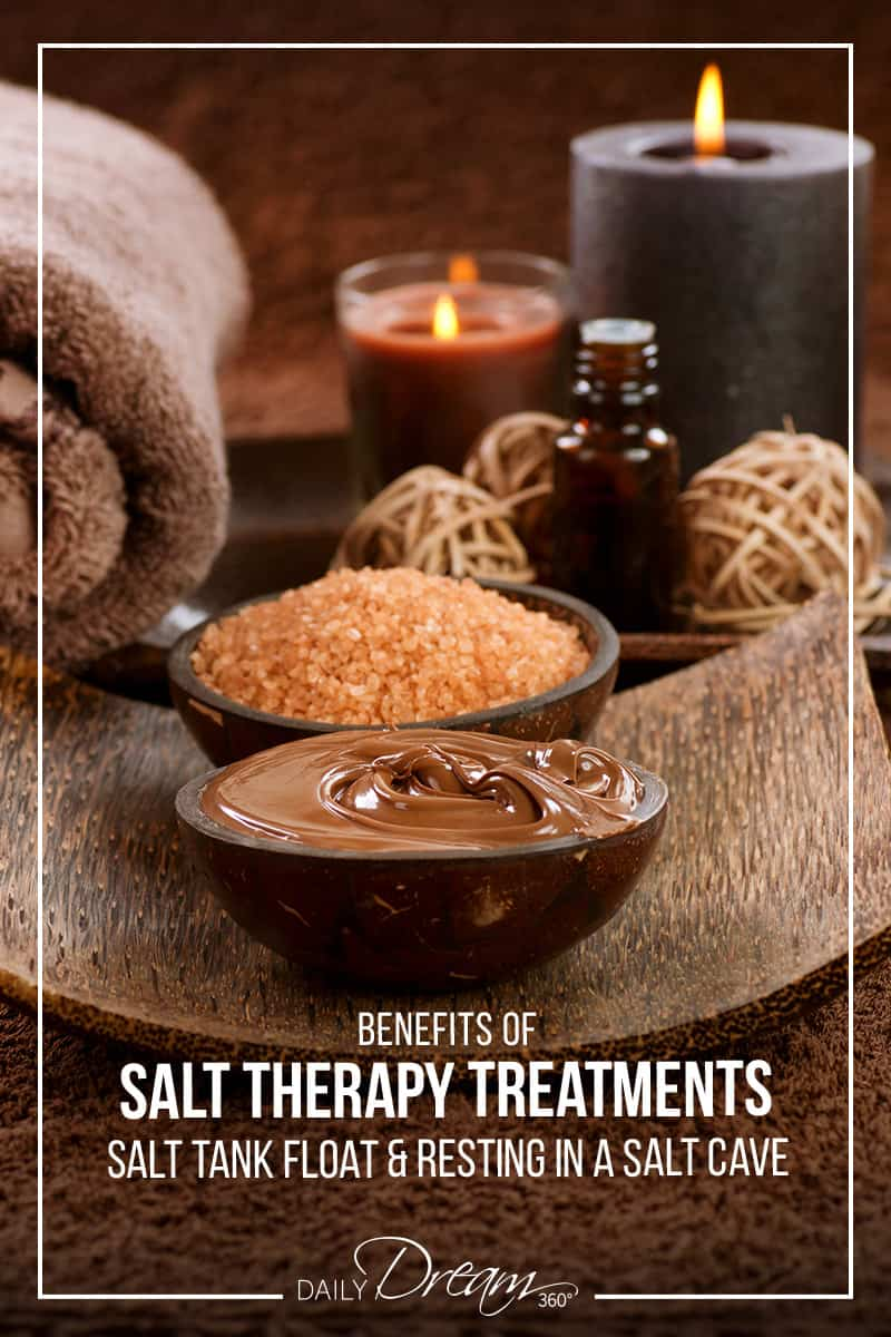 salt scrub spread on brown towel Salt Lamps_Benefits of Salt Therapy Treatments