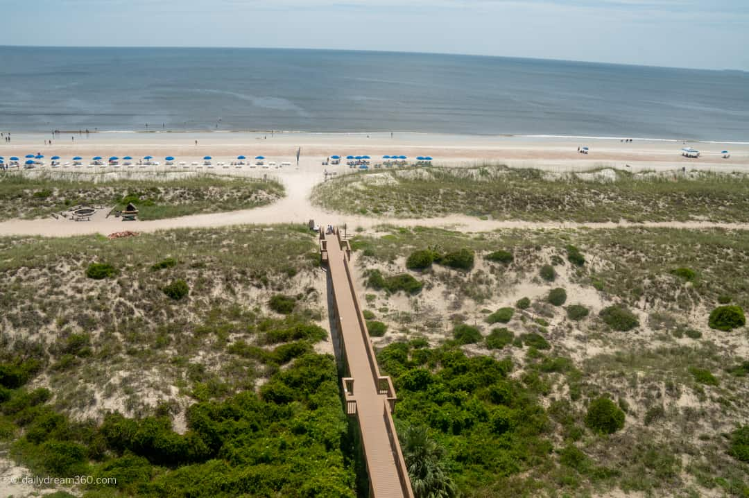 Boardwalk leading to beach at Ritz Carlton Amelia Island FL