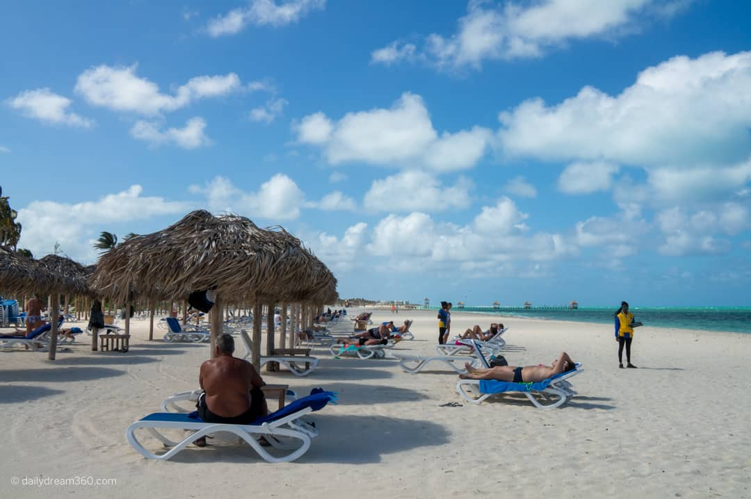 Beach area at Iberostar Daiquiri, Cayo Guillermo, Cuba