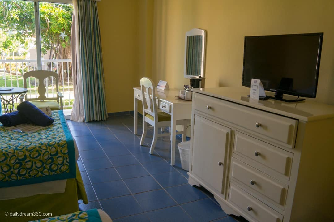 Desk and armoire in room at Family friendly fun at Iberostar Tainos, Varadero