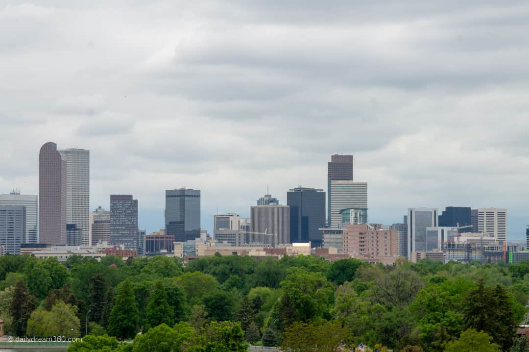 View of Denver from Natural History Museum Lookout