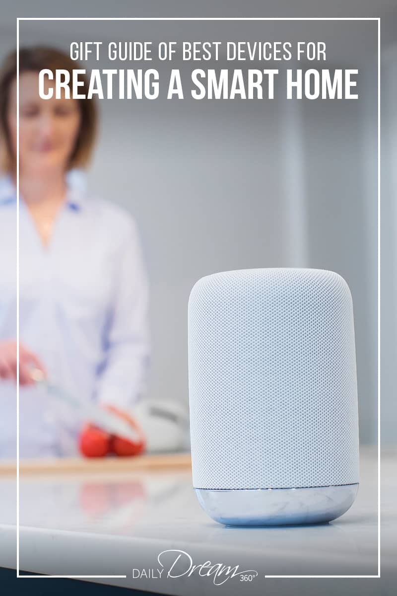 In this post we share a Gift Guide of the Best Devices for Creating a Smart Home. From home speaker assistants, lighting, plugs, security and heating, we cover them all.   #smarthome #smartdevices #homeassistant  
