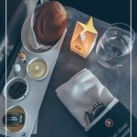 Photo of meal on tray in Business Class on Turkish Airlines.