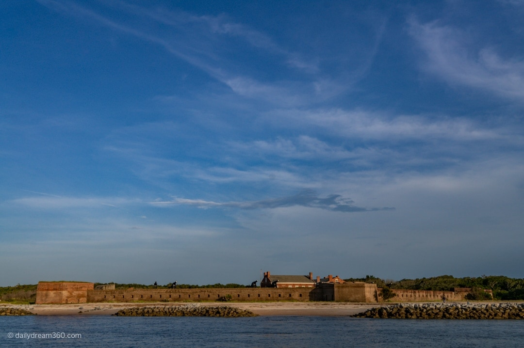 View of Fort Clinch from boat cruise